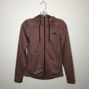 The North Face Burgundy Zip-Up Sweatshirt